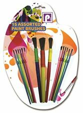 Pennine Assorted Kids Paint Brushes Multi-Colour 15-Piece
