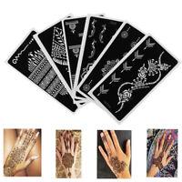 Makeup DIY Body Art Temporary Hand Decal Tattoo Stencils Henna Template Sticker