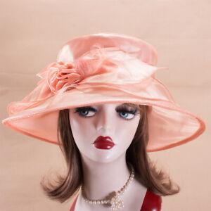 Womens Dress Formal Church Wedding Kentucky Derby Tea Party Sun Hats X745