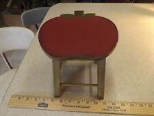 "Painted Doll Apple Stool Chair Primitive/Country/Farmhou se Display 7""Tx 7""D Wood"