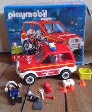 PLAYMOBIL 4822 voiture pompiers  avec 1 pompiers supplementaire