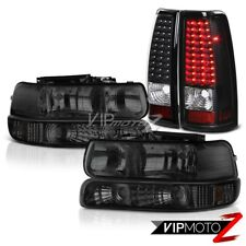 1999-2002 Chevy Silverado 2500HD Signal Head Lights Matte Black Tail Light Brake