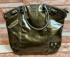 Coach Madison Patent Leather Lindsey Purse Pewter Style: F1193 - 18627 Pre-Owned