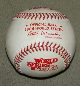 Rawlings Official 1986 World Series Baseball Ball New York Mets Boston Red Sox