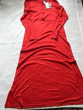 NEW WOMENS JONES NEW YORK SPORT FULL LENGTH RED DRESS SIZE SMALL