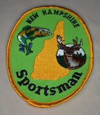 VTG New Embroidered NEW HAMPSHIRE SPORTSMAN Souvenir Cloth Badge Patch