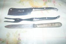 lot laguiole et 1 couteau ancien argenté
