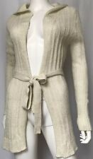 Tommy Hilfiger Womans Alpca Mohair Cardigan Cream Ivory Shimmer Size   M F107