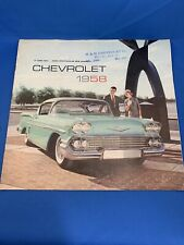1958 Chevrolet Lg Pg catalog Brochure Impala Bel Air Biscayne Wagon Chevy 58