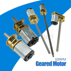 3V 6V 12V/100RPM Micro Speed Reduction Gear Motor Wheel Shaft Metal Gearbox