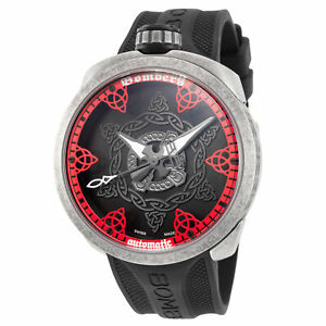 Bomberg BS45AOSP.057-3.3 Men's Bolt-68 45mm Swiss Automatic Red Dial Watch