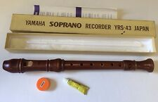 Yamaha YRS-43 Soprano Recorder Boxed Wooden Excellent Piece