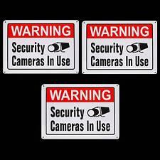 METAL SPY CAM HOME SECURITY ALARM CCTV VIDEO CAMERA SYSTEM WARNING YARD SIGN LOT