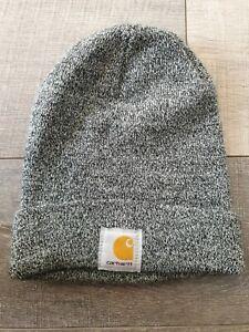 CARHARTT Black Marl Beanie Hat One Size