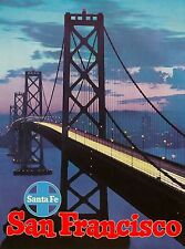 San Francisco California Santa Fe United States Travel Advertisement Art Poster