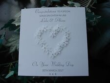 Personalised Handmade Congratulations on your Wedding Day - Son, Daughter