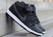 Nike SB Dunk Pro Mid ISO Black Leather Size 10.5