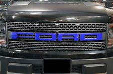 Ford F150 SVT Raptor 2010-2014 Custom Vinyl Decal Kit Grille Letter Overlay Blue