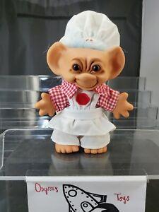 Vintage Uneeda Wishnik Troll 1989 Pizza Chef