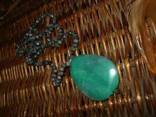 Collar colgante piedra jade natural ágata labrada verde Labradorita piedra gris