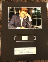 """JFK John Kennedy Display w/ Hand-Written Number """" 117 """" JSA LOA 8x10"""