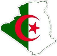 Adesivi adesivo moto auto sticker bandiera vinyl decal mappa algeria