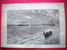 Nel 1885 a Massaua - Le navi italiane davanti il porto di Massaua