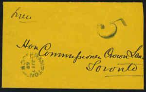 "CANADA 1869 BRAMPTON TO TORONTO ""5c"" PAID POSTAGE"
