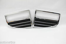 Ford F-250 SUPER DUTY 1999-2004 TFP Chrome Logo Vent Insert ROUND BLACK MESH