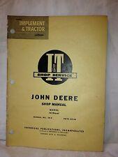 John Deere Tractor manual, 70 Diesel. Item: 0974