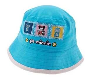 "NWT DISNEY MINNIE MOUSE Blue Bucket Hat Girls 100% cotton from ""go minnie"" line"