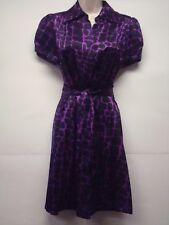 NWT INC International Concepts 100% Silk Purple/Black Dress Size 6 Nice!!