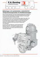 F.A. Sening Meßanlagen für Straßentankwagen Prospekt 1992 brochure prospectus