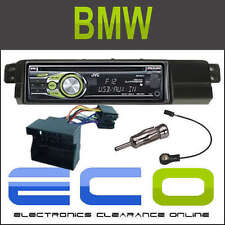 BMW 3 Series 98-05 Full Fascia Fitting Kit with JVC CD MP3 USB AUX Car Stereo
