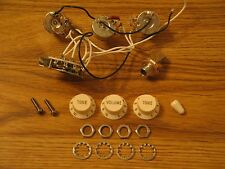 Fender 1996 USA White Stratocaster Electronic Control Pots Harness