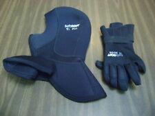 SeaSoft Ti Pro & SeaSoft Edge Scuba Diving, Free diving Hood Neck Flange & glov