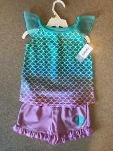 New Carter's Toddler Girls 3-Piece Mermaid Pajama Set 3 4 5