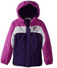 NWT Fila Big Girls' Colorblock Fleece Lined Puffer Coat Size 10/12  Washable