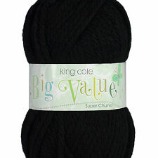 King Cole Big Value Super Chunky 100g ball 100% Acrylic Knitting Wool Yarn