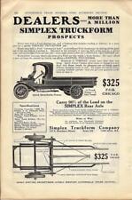 1916 Simplex Truckform Ad/ For Model T One-Ton Conversion Dealer Ad