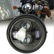 "Motorcycle 6.5"" Projector Headlight Head lamp Hi/Lo Beam Bobber Chopper Black"