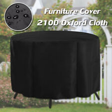 210D Round Outdoor Patio Furniture Cover Rain Dust Snow Waterproof Table Shelter