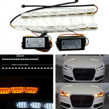 Car LED Running Light Strip Switchback Sequential Turn Signal Lamp White Amber