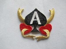 #3625 Ace Of Spades Casino Gambling Poker Cards Embroidery Applique Patch