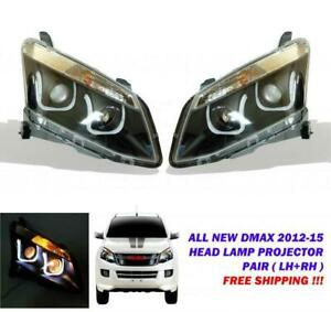 For 2012-2015 Isuzu Dmax D-Max Pickup Holden Rodeo Led Head Lamp Light Pair