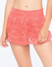 NWT Small Coral Skort Shorts Skater Skirt Smoked Waistband Full Tilt Floral