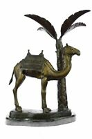 Rare Camel Take A Journey Bronze Sculpture Desert Collectible Art Deco EX Large