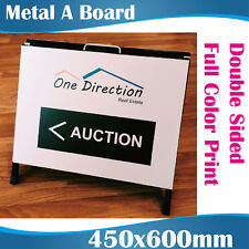 Real Estate Metal A-boards a Frame Signs 450x600cm With Graphics