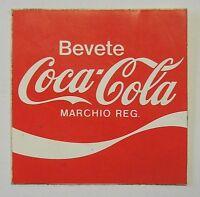 VECCHIO ADESIVO ORIGINALE / Old Original Sticker COCA COLA (cm 6,5 x 6,5) d