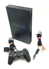 ORIGINAL PLAYSTATION 2 / PS2 KONSOLE FAT in SCHWARZ + Original Controller + Zub.